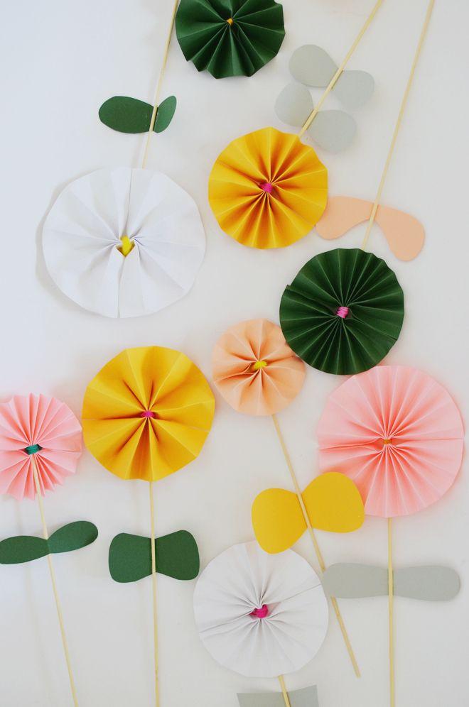 Blumen basteln - 3 Anleitungen und 30 tolle Ideen - Deko \ Feiern - blumen basteln
