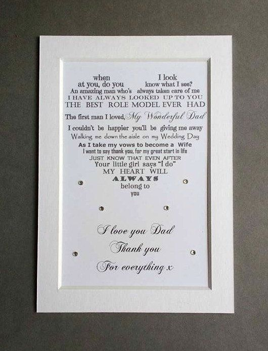 Check Out This Item In My Etsy Https Www Uk Listing 400167405 Father Of The Bride Gift Thank You To