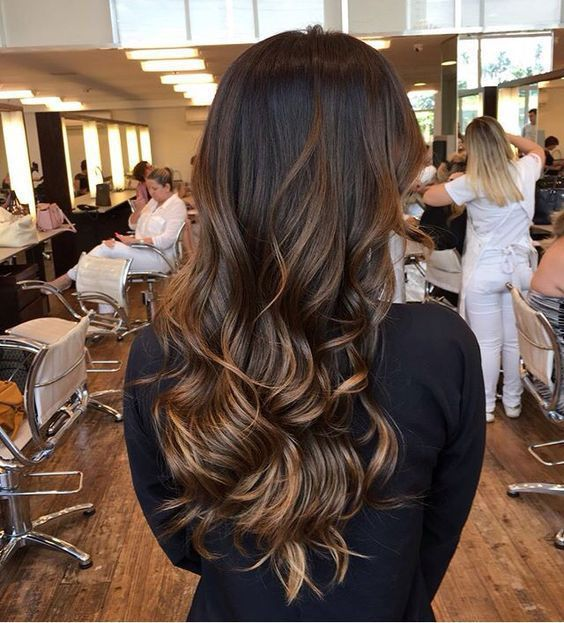 Long Brown Hair With Caramel Highlights Lovely Locks Pinterest