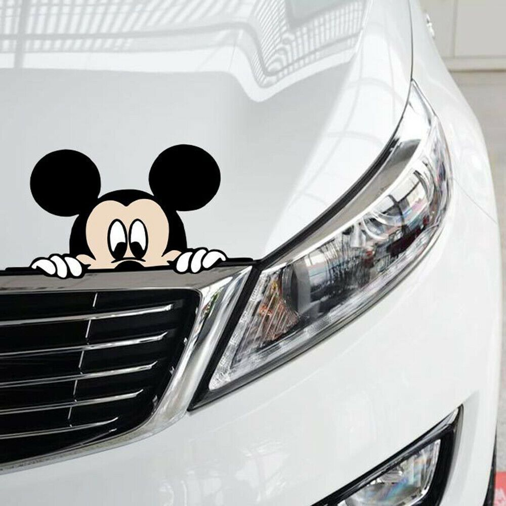 Calcomanias Vinilos Para Autos Carros Coches Ventanas Figura De Mickey Divertida Car Stickers Funny Car Humor Disney Car Decals [ 1000 x 1000 Pixel ]