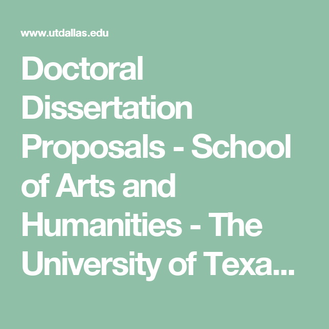 Doctoral dissertation university texas