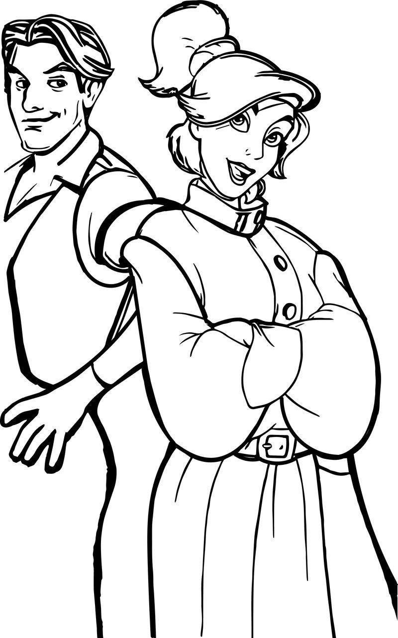 Anastasia Cartoon Characters Dmitry Vladimir Rasputin Coloring