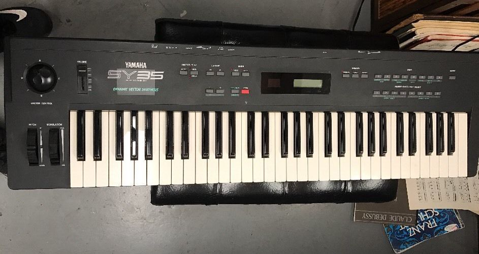 yamaha sy35 vector synthesizer keyboard with power supply manual rh pinterest com Yamaha Synthesizer Yamaha Synthesizer
