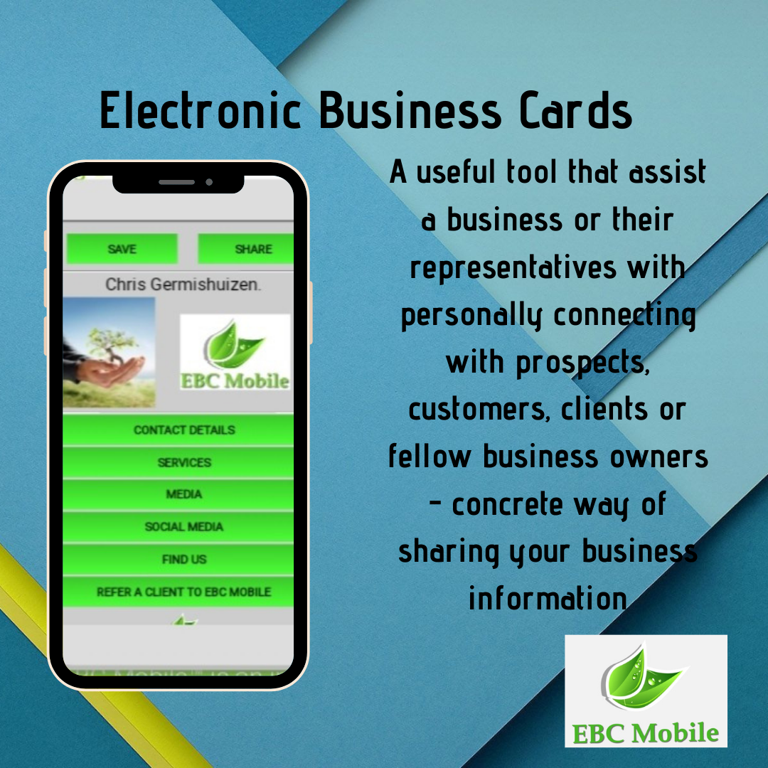 Ebc Mobile Electronic Business Digital Business Card Business Cards