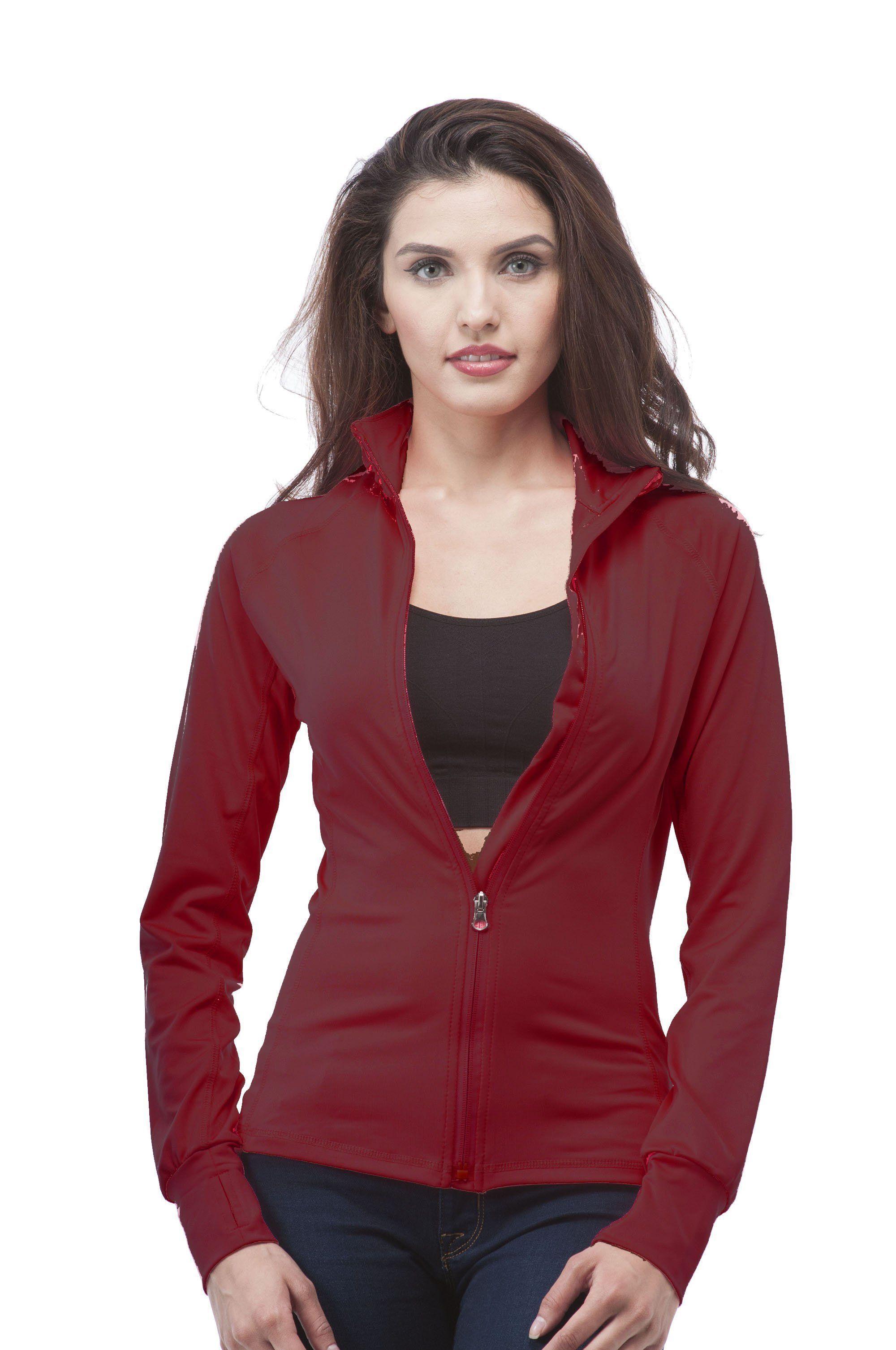 Long Sleeve Zip up Athletic wear sweater jacket Long