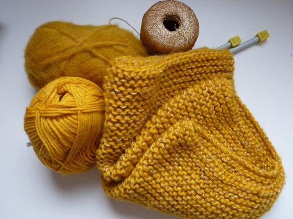 tricoter 3 fils ensemble