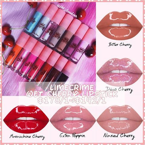 Wet Cherry Lip Gloss by Lime Crime #15