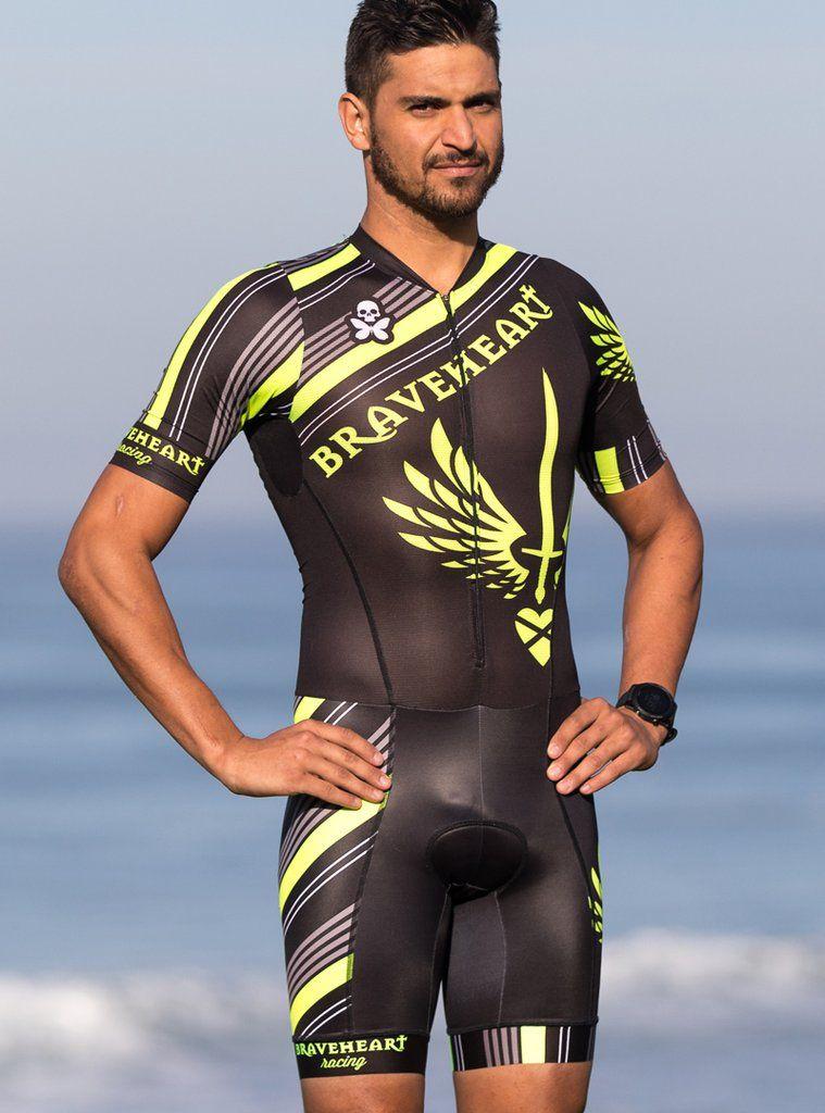 Braveheart Racing Mens Aero Mesh Short Sleeve Tri Skinsuit ... 59fcabf1b
