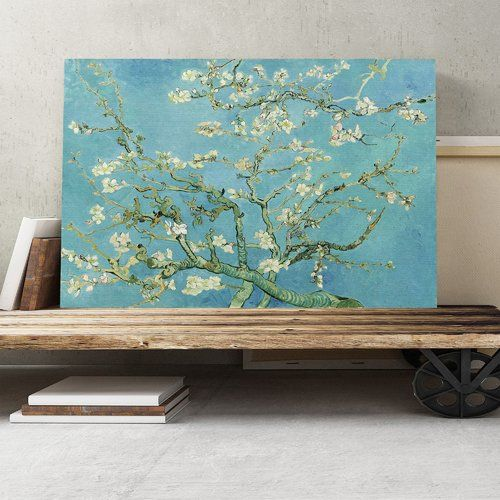 'Blossoming Almond Branches (2)' by Vincent van Gogh Painting Print on Canvas Big Box Art Size: 70cm H x 100cm W