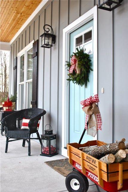 Sherwin williams earl gray siding and festoon aqua door - Front door colors for gray house ...