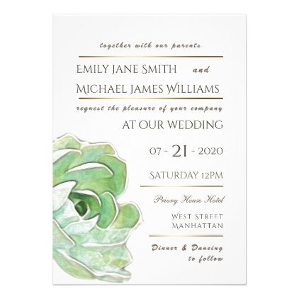 Succulent Cacti Wedding Invitation Contemporary  Invitations