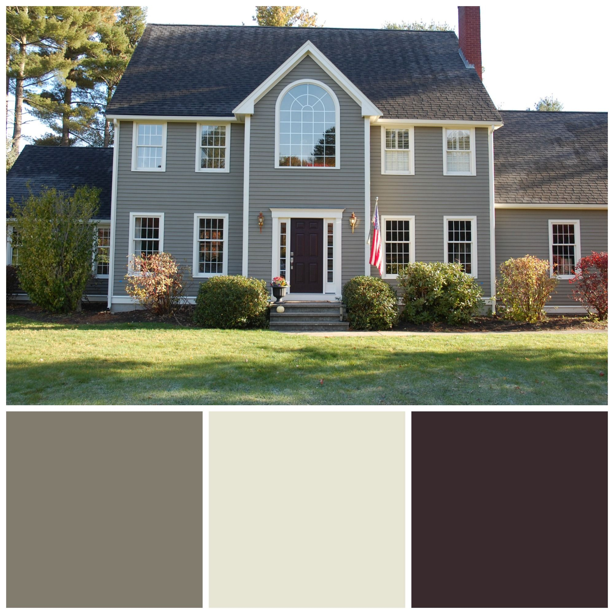 Sherwin Williams Exterior House Paint Colors: Main Color: Anonymous; Trim:  Nacre;
