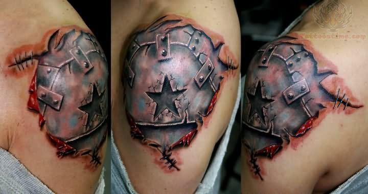 3d armor star tattoo 3d tattoo pinterest. Black Bedroom Furniture Sets. Home Design Ideas