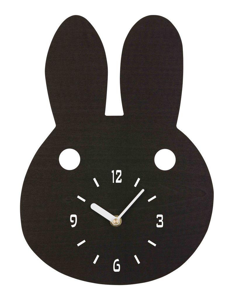 Black Bunny Timber Clock