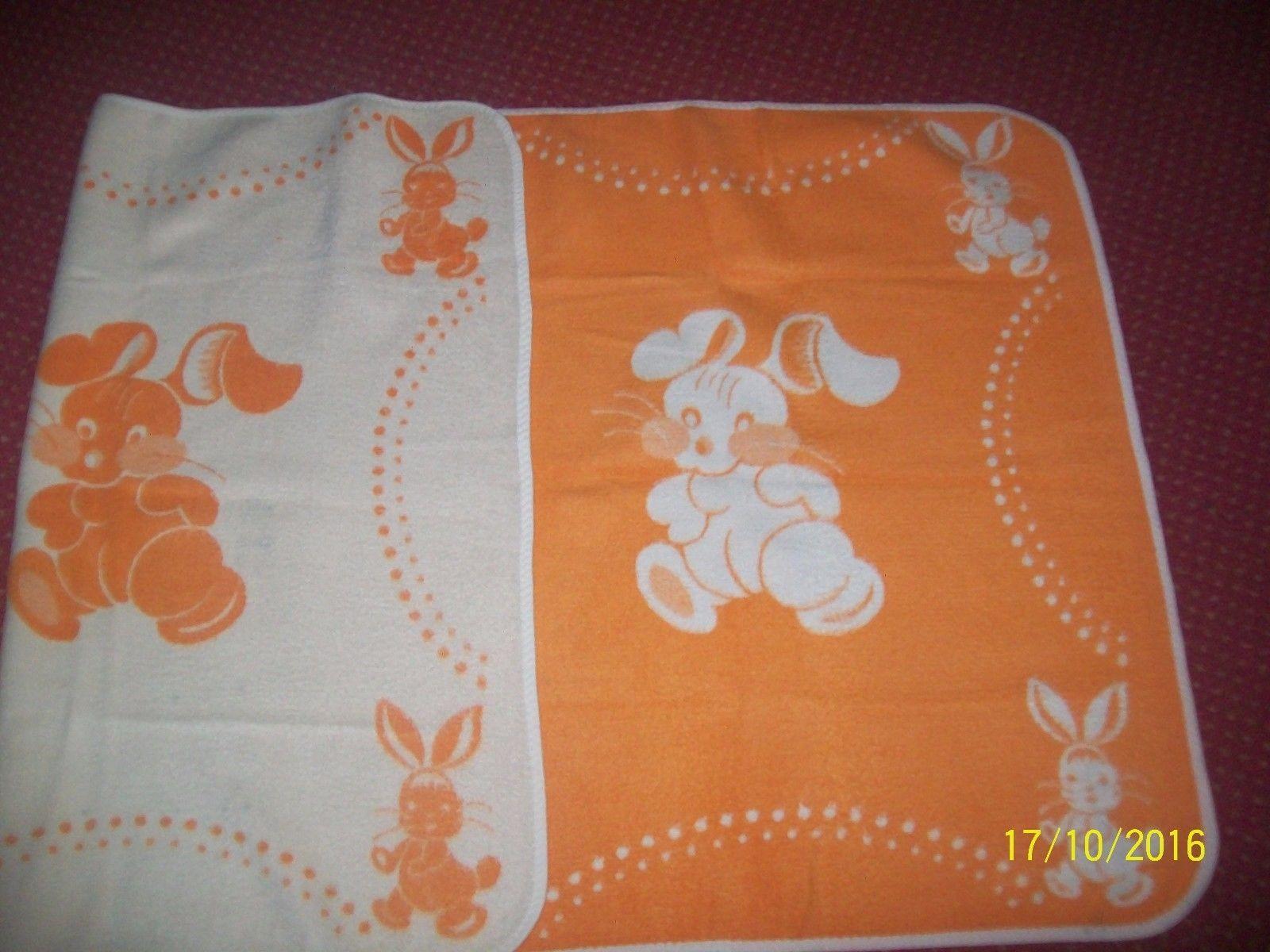 DDR Babydecke Decke Kinderdecke 145//82cm Baby Decke TOP 60//70er Jahre