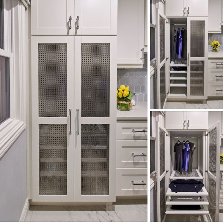 Custom Laundry Room Drying Cabinet With Pullout Drying Racks And A Section For Hanging Laundry Custom Laundry Room Laundry Room Decor Laundry Room Cabinets