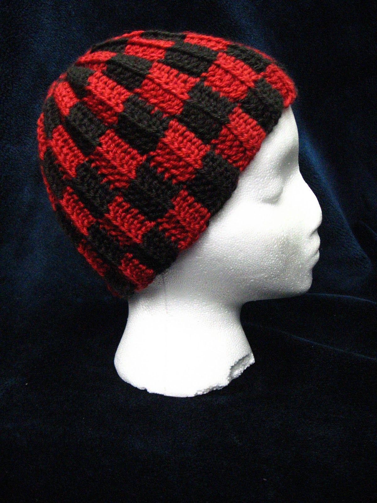 Yarn, Rocks, and Herps: Checkered Hat Crochet Pattern | Making Head ...
