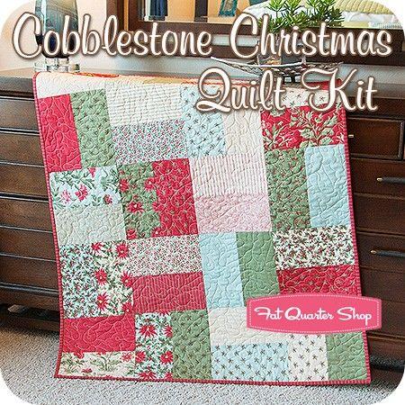 Cobblestone Christmas Quilt Kit<br/>Featuring Under the Mistletoe ... : three sisters quilt shop - Adamdwight.com