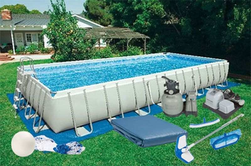 12 X24 X52 Intex Ultra Frame Rectangular Pool Kit With Salt System 28365eh Rectangular Swimming Pools Rectangular Pool Swimming Pools