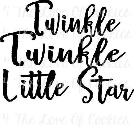 Twinkle twinkle little star Silk Screen Stencils, baby boy stencil