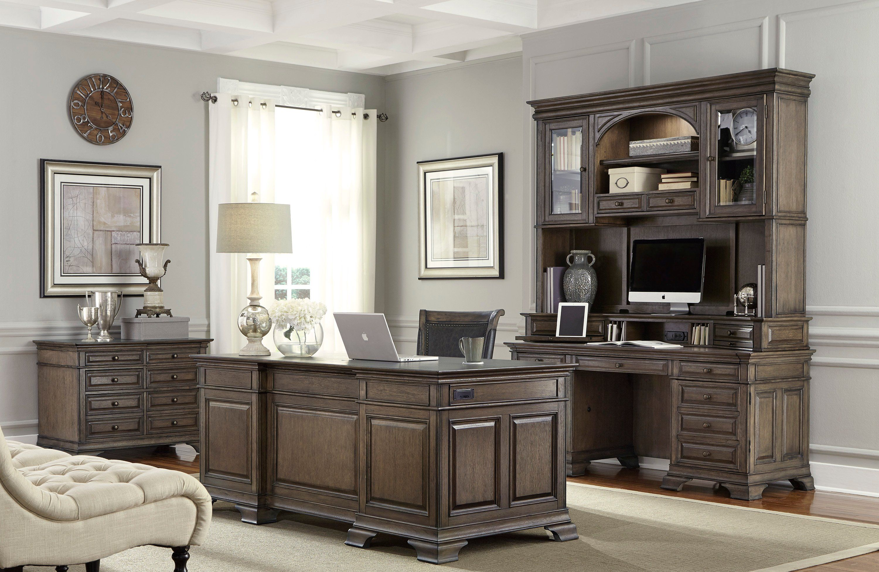 Best Chestnut Brown 4 Drawer Lateral Wood File Cabinet 640 x 480