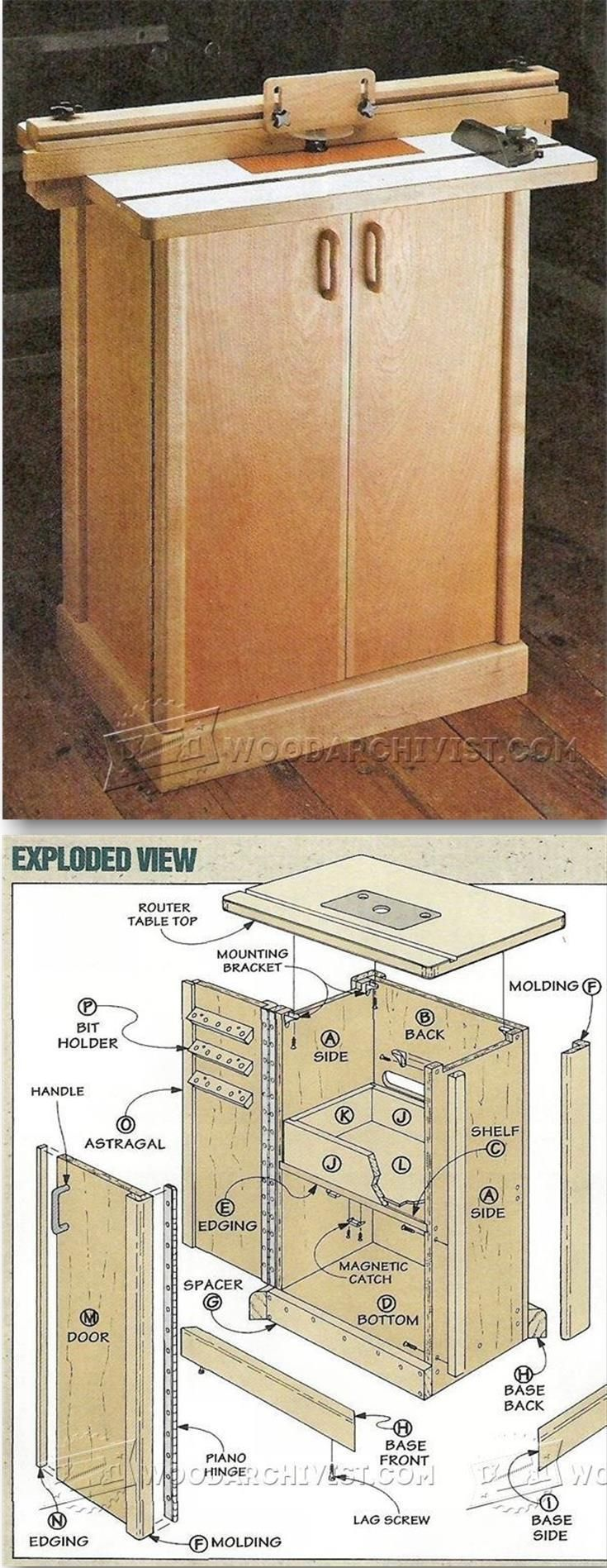 router table cabinet plans router tips jigs and fixtures rh pinterest com