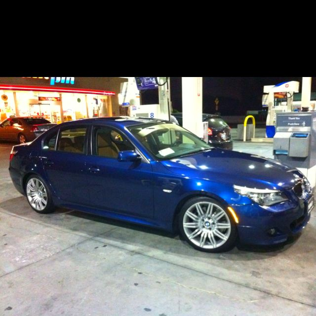 2008 BMW 550i  Deap Sea Blue       My new joy! | Wheels | Bmw cars