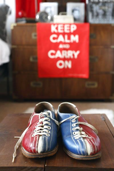 Okay I know I can't be the only one who has always wanted to keep their bowling shoes.....