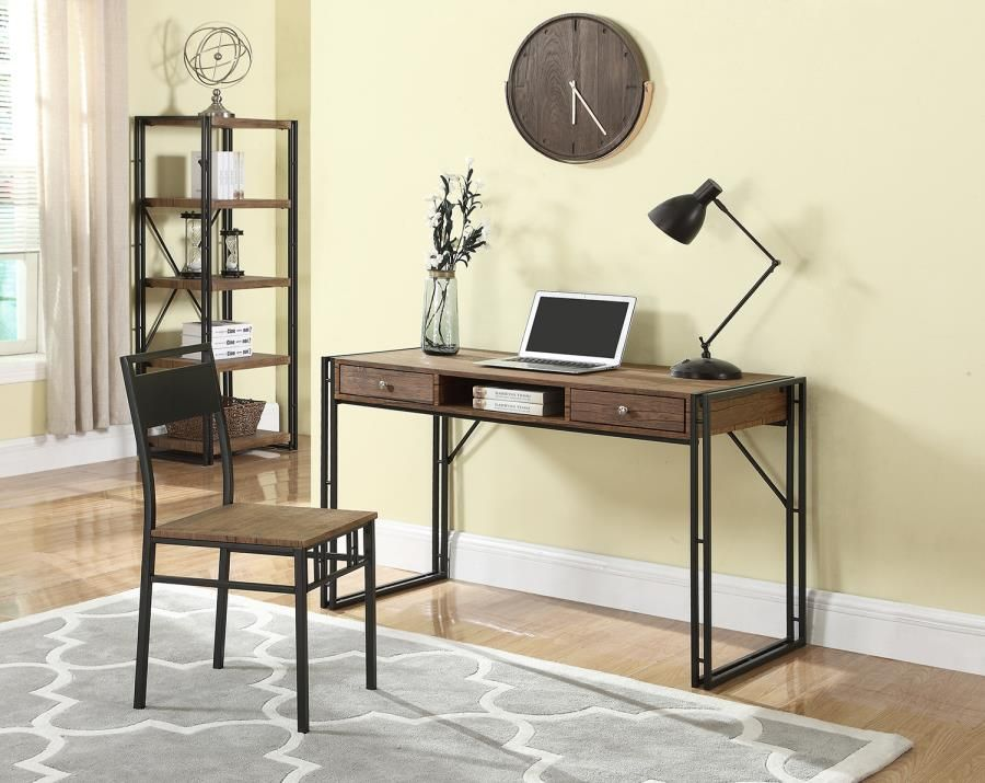 Coaster 801741 Two-Piece Weathered Chestnut Desk and Chair ...