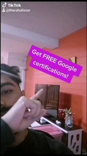 Get certified for FREE by google