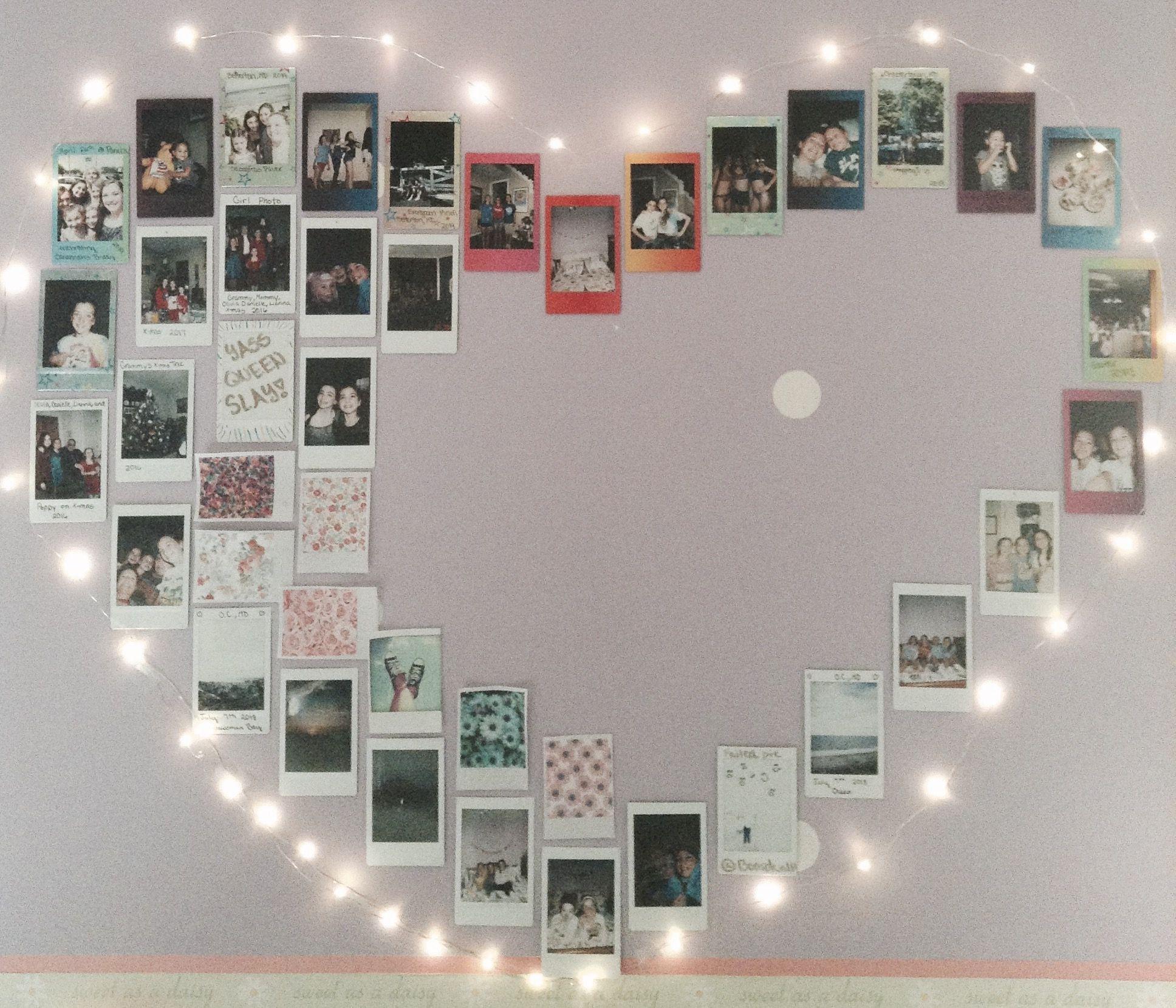 Polaroid Wall Polaroid Wall Fairy Lights Bedroom Wall Fairy Lights Bedroom