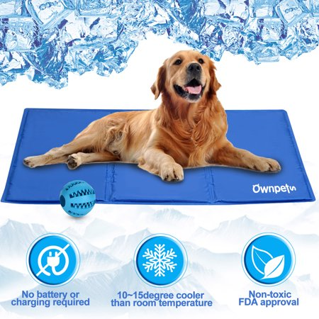 Ownpets Pet Self Cooling Gel Pad Cooling Mat W Pet Toy Ball