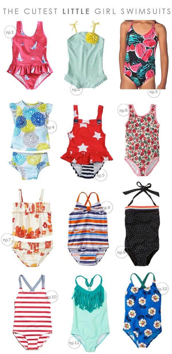 Cutest Little Girl Swim Suits Hellobee Moda Infantil Moda