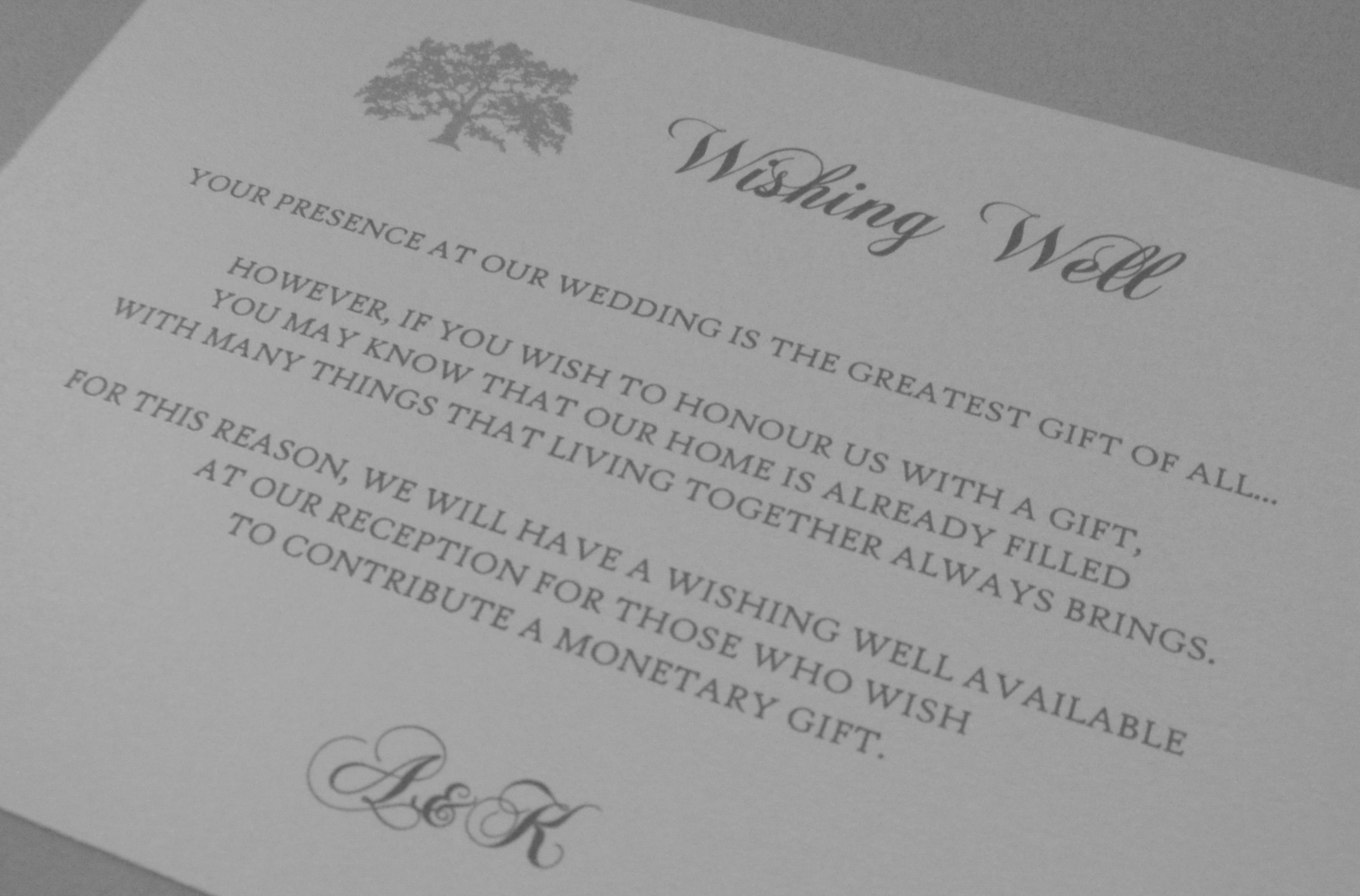 Wedding Gift Wording Ideas: Nice Wording For Those Who Are Ok With Requesting Monetary