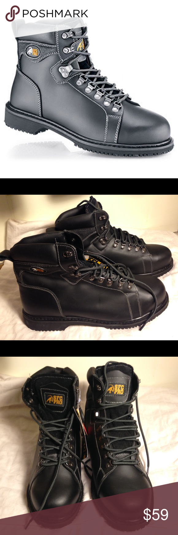 971268cb2af NWT SFC Pro Expedition Steel Toe Work Boots NWT, but have a few ...