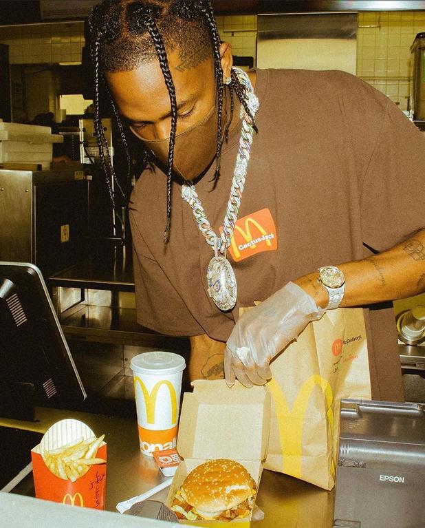 Travis Scott serving at McDonald's 🍟🍔 HipHopImages in