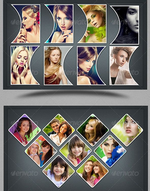 Collage Photo Frame Template Vo 3 | Collage Ideas | Pinterest ...