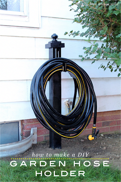 Do You Have Lots Of Plants To Water This Summer Make Your Life Easier With This Diy Garden Hose Holder It Garden Hose Holder Garden Hose Storage Garden Hose