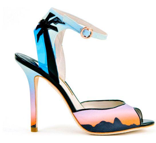 Amé estas sandalias de Sophia Webster, Río Sunset!