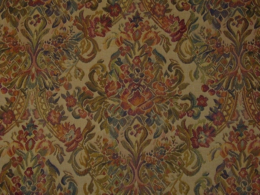 Medallion Tapestry Teastain Upholstery Curtain Fabric The