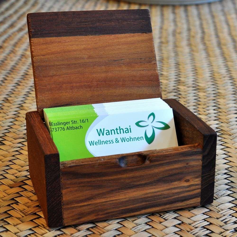 Visitenkarten Box Kistchen Aufsteller Holz In 2019