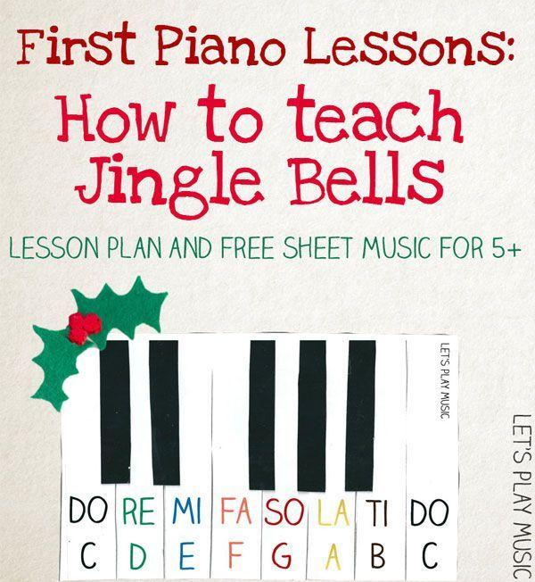 Jingle Bells Very Easy Piano Sheet Music Piano lessons, Jingle - music lesson plan
