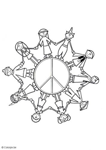 Coloring Page Children Of The World Kindergarten Coloring Pages