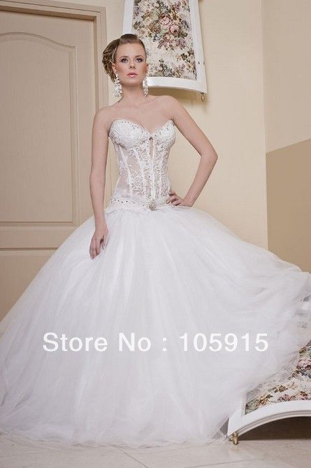 Bon See Through Corset Wedding Dress | See Through Corset Wedding Dress