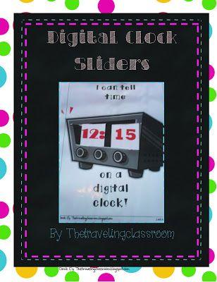 A Digital Clock Slider Manipulative!  Wow, just Print and go!