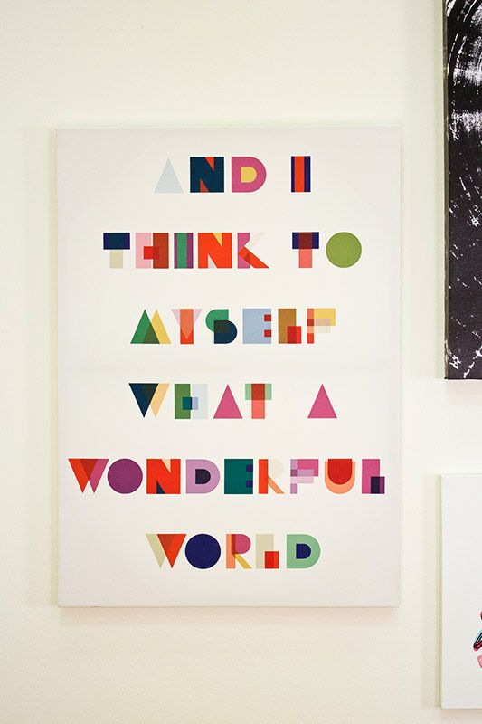 And I Think To Myself What A Wonderful World Canvas Art At
