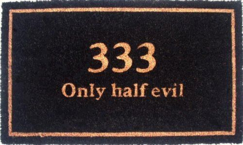 """333 Half Evil 17""""x29"""" Coir with Vinyl Backing by Momentum Mats. $19.99. Makes a Great Gift - Free Gift Enclosure. Fade Resistant, Color Fast and Weather Tolerant. 100% Natural Coir with Vinyl Backing for Long-Lasting Wear and Durability. In Stock - Ships in 1-2 days. Traps Dirt and Moisture. Momentum Mats has been a trusted manufacturer for 28 years and we take great pride in the fact that we use only 100% natural coir and vinyl in our doormats.  Our manufacturing facilities ha..."""