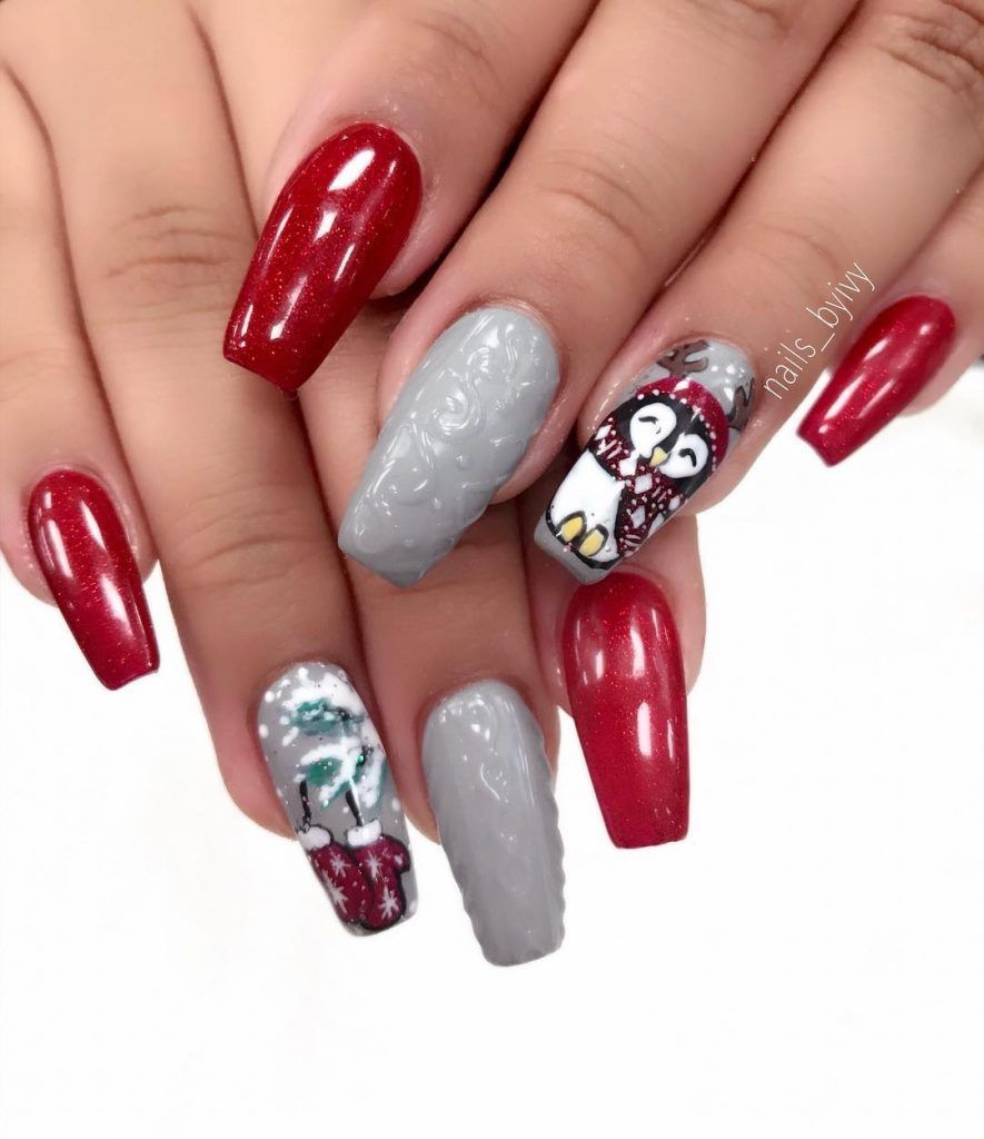 New winter manicure for the new year 2018   Nails,Nails, Nails ...
