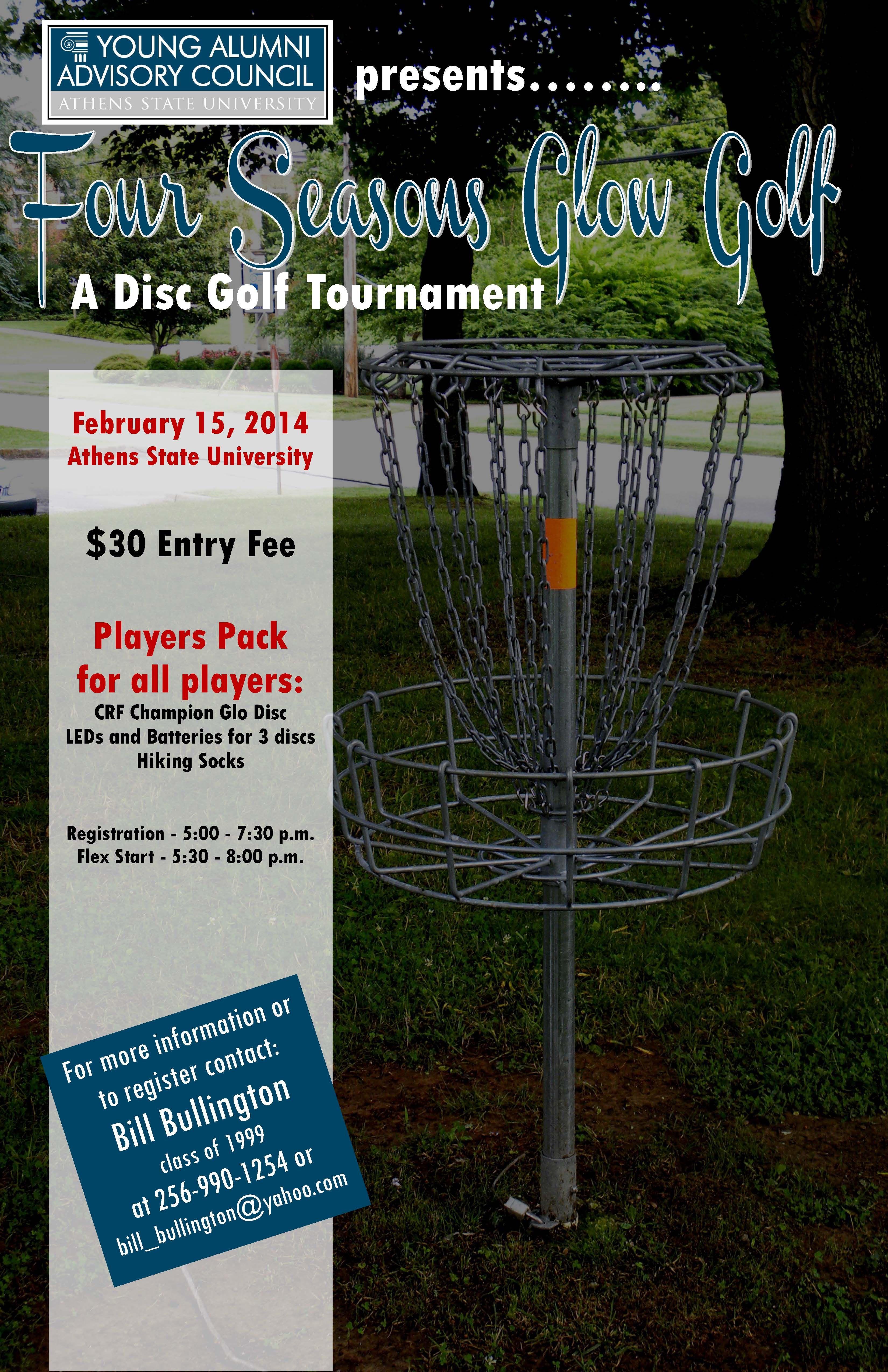 Glow golf february 15 golf tournament disc golf