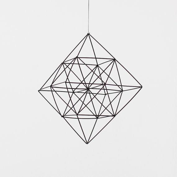 Himmeli Diamond / Modern Hanging Mobile / Geometric